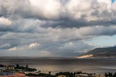 The Port of Messina in Sicily Royalty Free Stock Photos