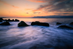 Messina and sunrise Royalty Free Stock Image