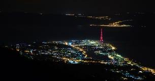 Messina nella notte Fotografia Stock Libera da Diritti