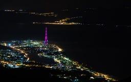 Messina nella notte Fotografie Stock