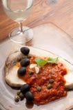 Messinese Schwertfische typisches Sizilien Stockfotos