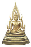 Messing-Buddha-Statue Stockfotos