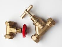 Messing en Koperloodgieterswerkpunten royalty-vrije stock afbeeldingen