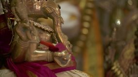 Messing-Ganesha-Statue stock video footage