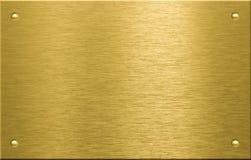 Messing oder Bronze Metallplatten mit Nieten lizenzfreie stockfotos