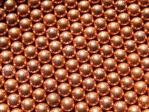 Messing-oder Kupfer-Ball-Marmor-Bereich-BBS-Kugeln Stockbild