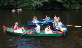 Messing about on the River Boating Royalty Free Stock Photos