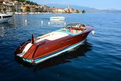 Messing about on the water. Lake Garda scene royalty free stock photos