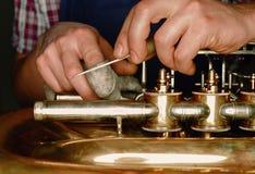 Messingsinstrument stock afbeelding