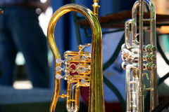 Messingsinstrumenten Stock Foto