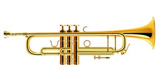Messingtrompetenikone Philharmonisches Orchester lokalisiert stock abbildung