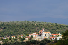 Messinia. Picturesque mountain village in Greece after rain, Messinia Stock Images