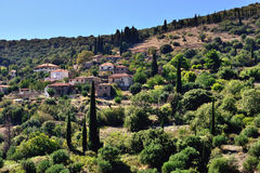 Messinia village. Picturesque mountain village in Greece, Messinia, Peloponnese Royalty Free Stock Photos