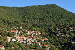 Messinia village. Picturesque mountain village in Greece, Messinia, Peloponnese Stock Photography
