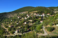 Messinia village. Picturesque mountain village in Greece, Messinia, Peloponnese Stock Images