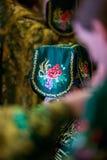 Messkelch für Kommunion im orthodoxen Kloster kiew Stockfotos