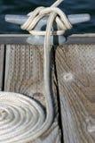 Messo in bacino al porticciolo Fotografie Stock