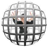 Messo in gabbia immagini stock libere da diritti