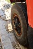 Messwagen-Reifen und Fender Lizenzfreie Stockfotos