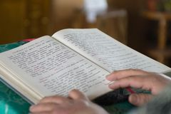 Messwert des Kirchebuches Lizenzfreies Stockbild