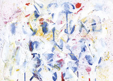 Messy abstract watercolor alphabet background Stock Photography