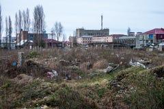 Messy area in Batumi suburbs Royalty Free Stock Photography