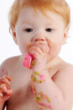 Messy baby Stock Photography