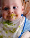 Messy baby Stock Photo