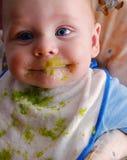 Messy baby Stock Photo