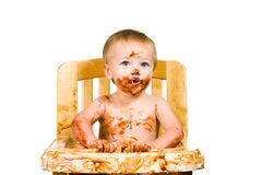 Messy Baby Boy Isolated Stock Image