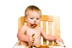 Messy Baby Boy Isolated Royalty Free Stock Image