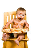Messy Baby Boy Isolated Royalty Free Stock Photo