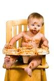 Messy Baby Boy Isolated royalty free stock photo