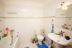Messy bathroom royalty free stock photos