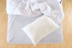 Messy bed. Royalty Free Stock Photo