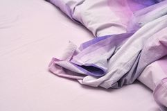 Messy bedclothes Royalty Free Stock Images