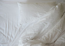 Messy bedding Royalty Free Stock Photos