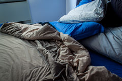 Messy bedroom sheets Royalty Free Stock Photo