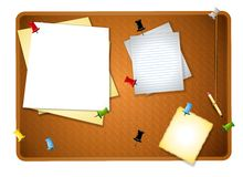 Messy Bulletin Board Background Royalty Free Stock Photo