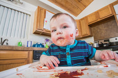 Messy Child Eats Stock Photography