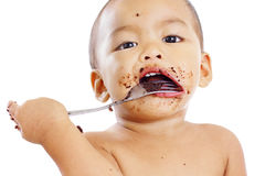 Messy Child Stock Photos