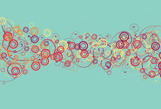 Messy Circles and Swirl Background. Spots, top circles, bottom circles, thin swirls and thick swirls are all on separate layers royalty free illustration
