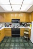 Messy Condo Kitchen Vertical View Stock Photos