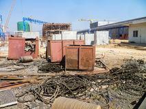 Messy construction site Royalty Free Stock Photography