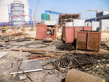 Messy construction site Royalty Free Stock Images