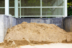 Messy construction site Royalty Free Stock Photo