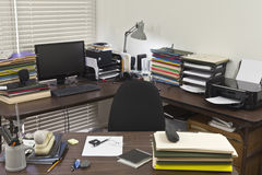 Messy Corner Office Stock Photography