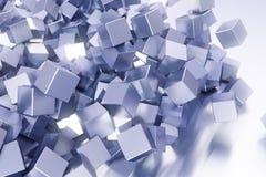 Messy cube background. A messy cube background with them tumbling everywhere Stock Image
