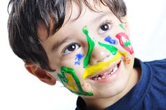 Messy cute kid Stock Image