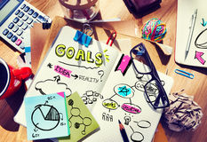 Messy Designer's Table with Notes and Tools.  royalty free stock images